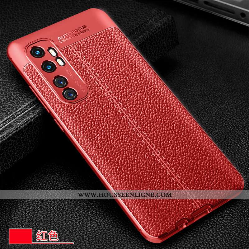 Étui Xiaomi Mi Note 10 Lite Silicone Protection Incassable Fluide Doux Coque Jeunesse Petit Rouge