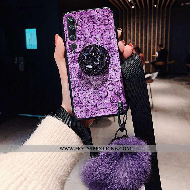 Étui Xiaomi Mi Note 10 Personnalité Tendance Net Rouge Incassable Violet Vent Fluide Doux