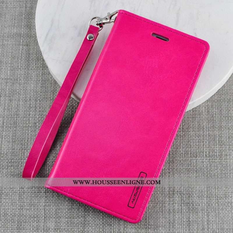 Étui Xiaomi Mi Note 10 Protection Portefeuille Rouge Clamshell Légère Tout Compris Rose