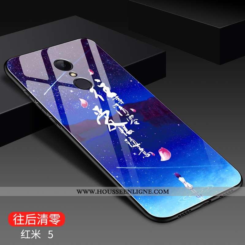 Étui Xiaomi Redmi 5 Créatif Mode Rouge Difficile Membrane Incassable Bleu