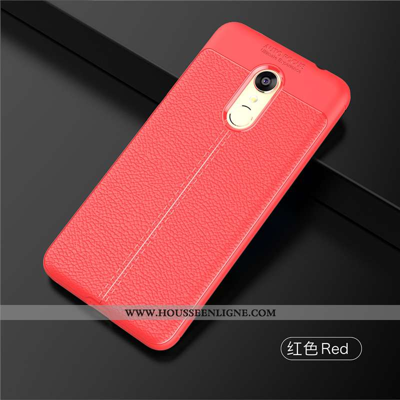 Étui Xiaomi Redmi 5 Cuir Modèle Fleurie Personnalité Luxe Coque Légère Incassable Rouge