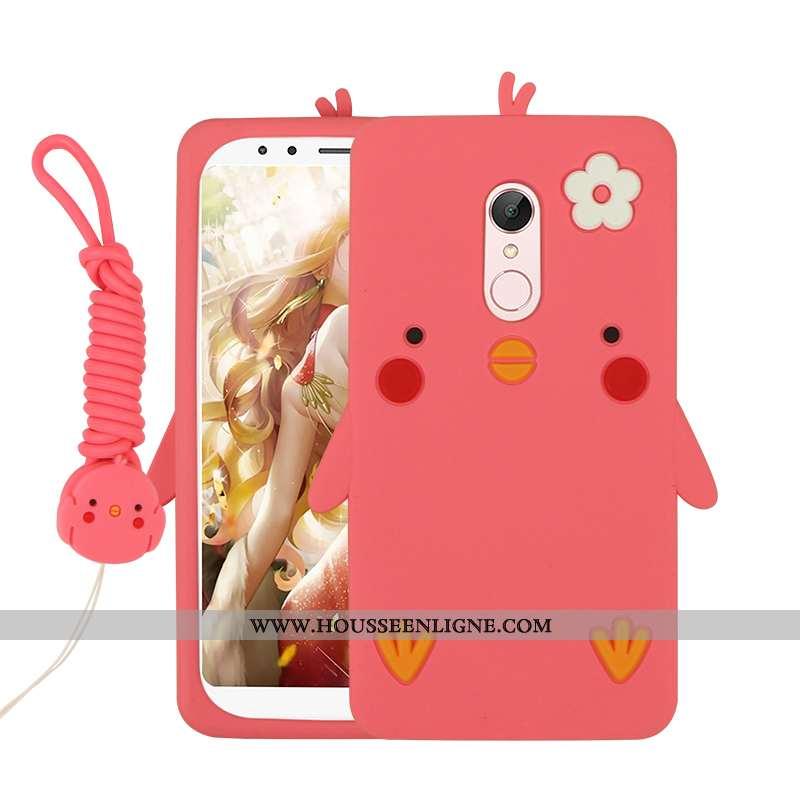 Étui Xiaomi Redmi 5 Dessin Animé Charmant Rouge Téléphone Portable Petit Coque Tout Compris Rose