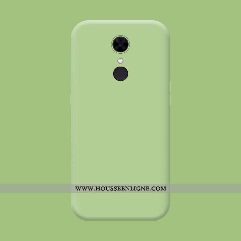 Étui Xiaomi Redmi 5 Fluide Doux Silicone Rouge Tendance Délavé En Daim Incassable Membrane Verte