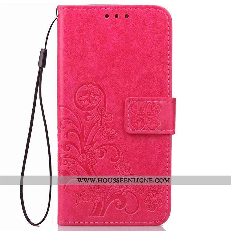 Étui Xiaomi Redmi 5 Protection Cuir Rouge Petit Incassable Housse Rose