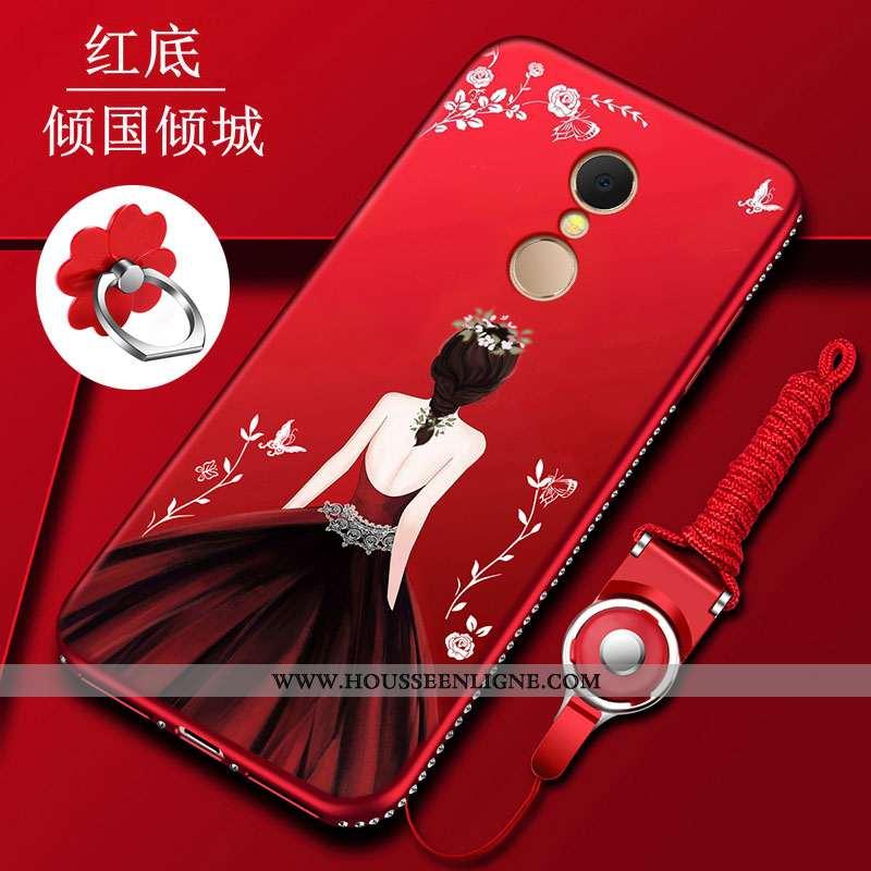 Étui Xiaomi Redmi 5 Silicone Protection Rouge Tout Compris Incassable Coque