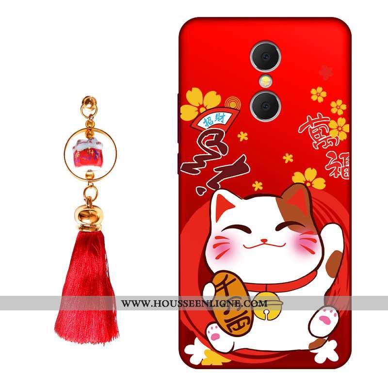 Étui Xiaomi Redmi 5 Silicone Protection Tendance Personnalité Fluide Doux Créatif Richesse Rouge