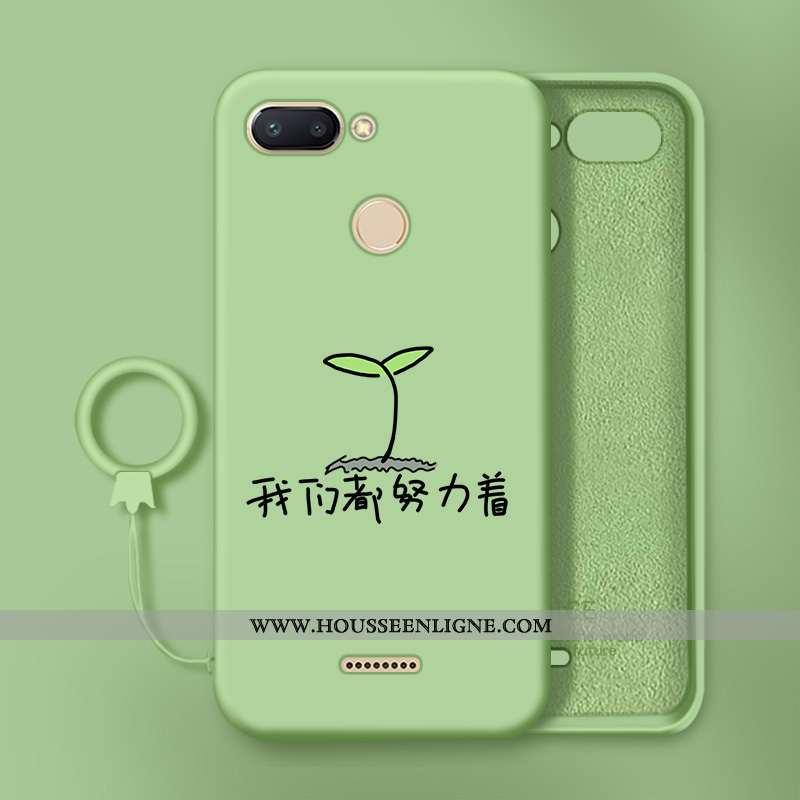 Étui Xiaomi Redmi 6 Créatif Charmant Tendance Personnalité Incassable Silicone Verte