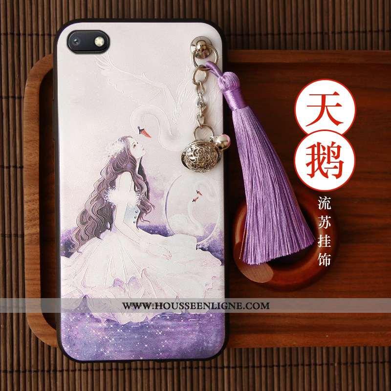 Étui Xiaomi Redmi 6a Créatif Vintage Coque Net Rouge À Franges Tout Compris Incassable Violet