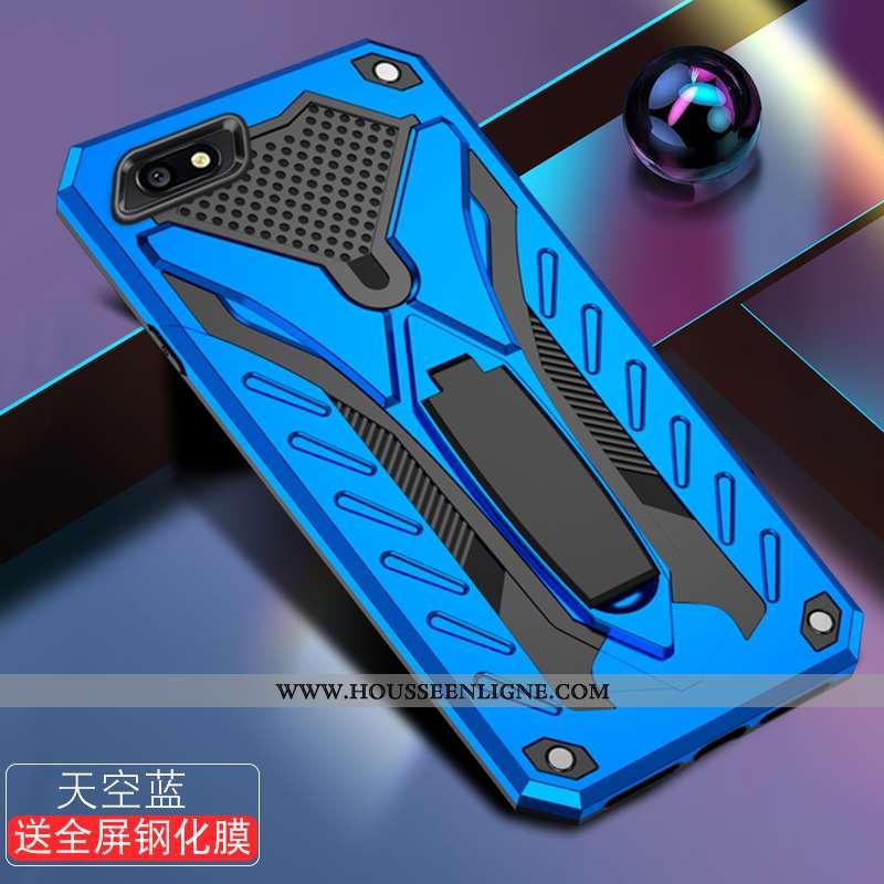 Étui Xiaomi Redmi 6a Fluide Doux Silicone Rouge Délavé En Daim Téléphone Portable Tendance Bleu