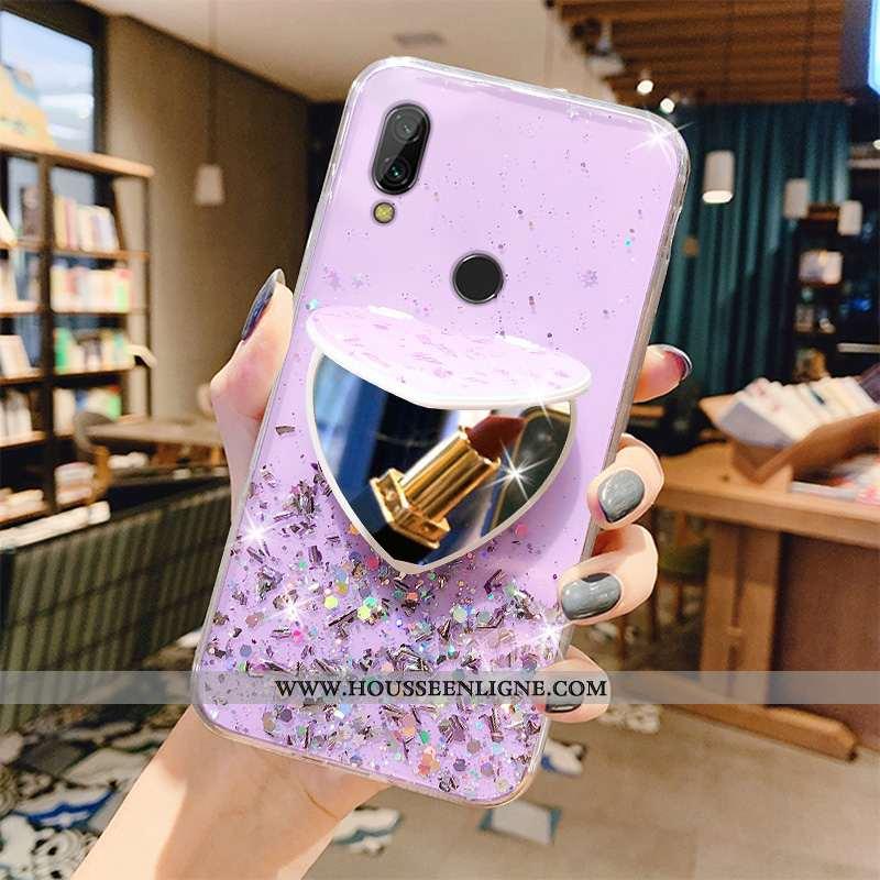 Étui Xiaomi Redmi 7 Fluide Doux Protection Rose Étoile Nouveau Téléphone Portable