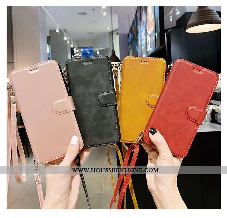 Étui Xiaomi Redmi 7 Silicone Protection Rouge Cuir Simple Tout Compris Téléphone Portable