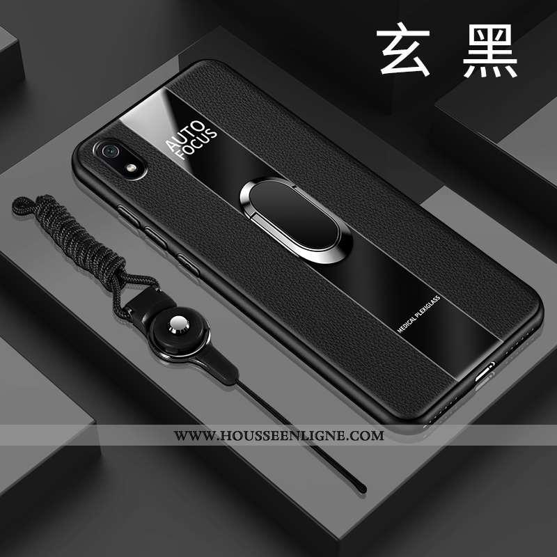 Étui Xiaomi Redmi 7a Tendance Cuir Tout Compris Noir Or Fluide Doux