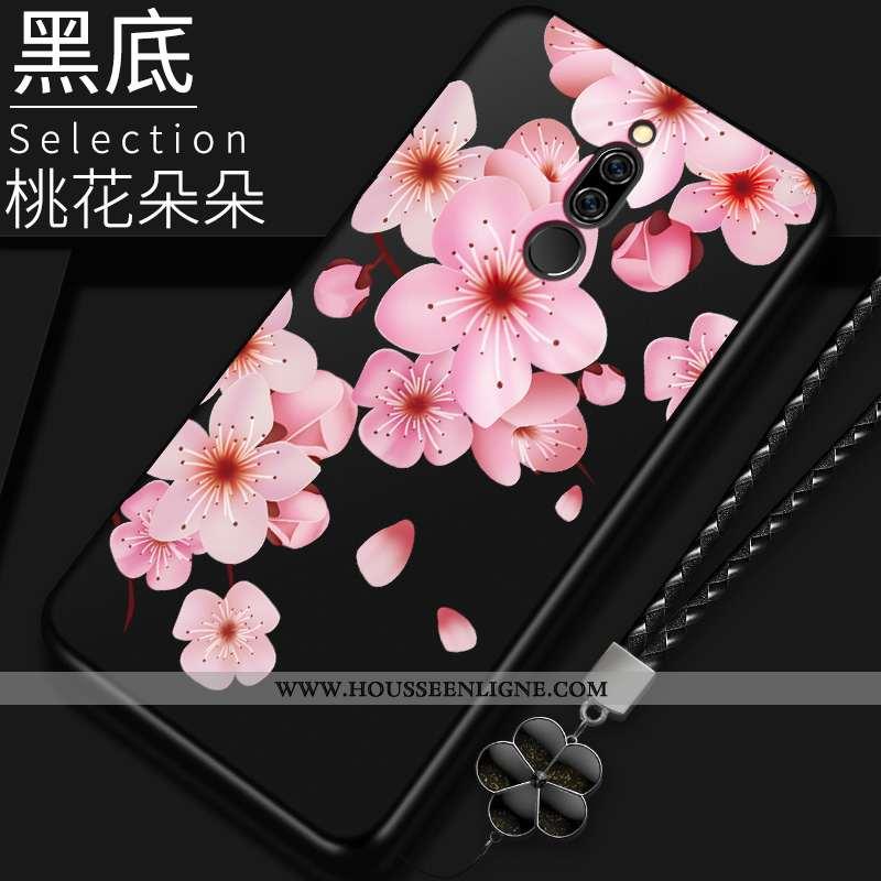 Étui Xiaomi Redmi 8 Légère Fluide Doux Tout Compris Délavé En Daim Amoureux Rouge Original Noir
