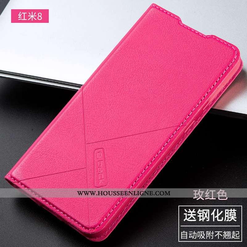 Étui Xiaomi Redmi 8 Protection Cuir Petit Fluide Doux Silicone Téléphone Portable Coque Rose