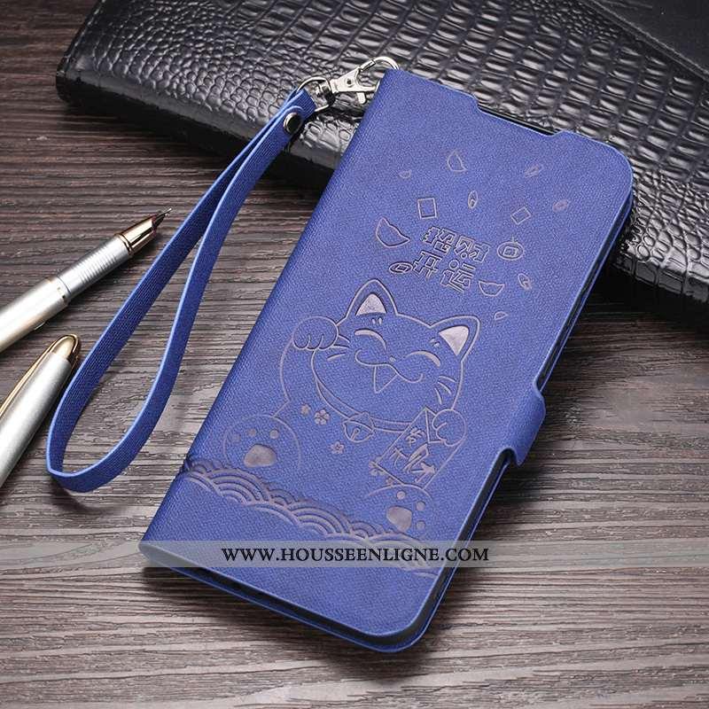 Étui Xiaomi Redmi 8a Fluide Doux Silicone Petit Coque Tout Compris Protection Bleu Foncé
