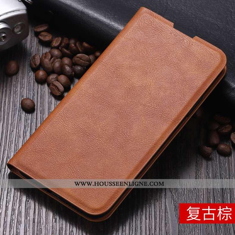 Étui Xiaomi Redmi 8a Fluide Doux Silicone Rouge Business Protection Téléphone Portable Marron