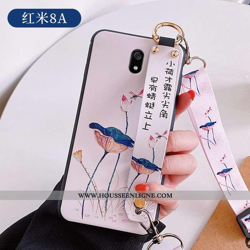 Étui Xiaomi Redmi 8a Mode Personnalité Ultra Tendance Style Chinois Créatif Gaufrage Blanche