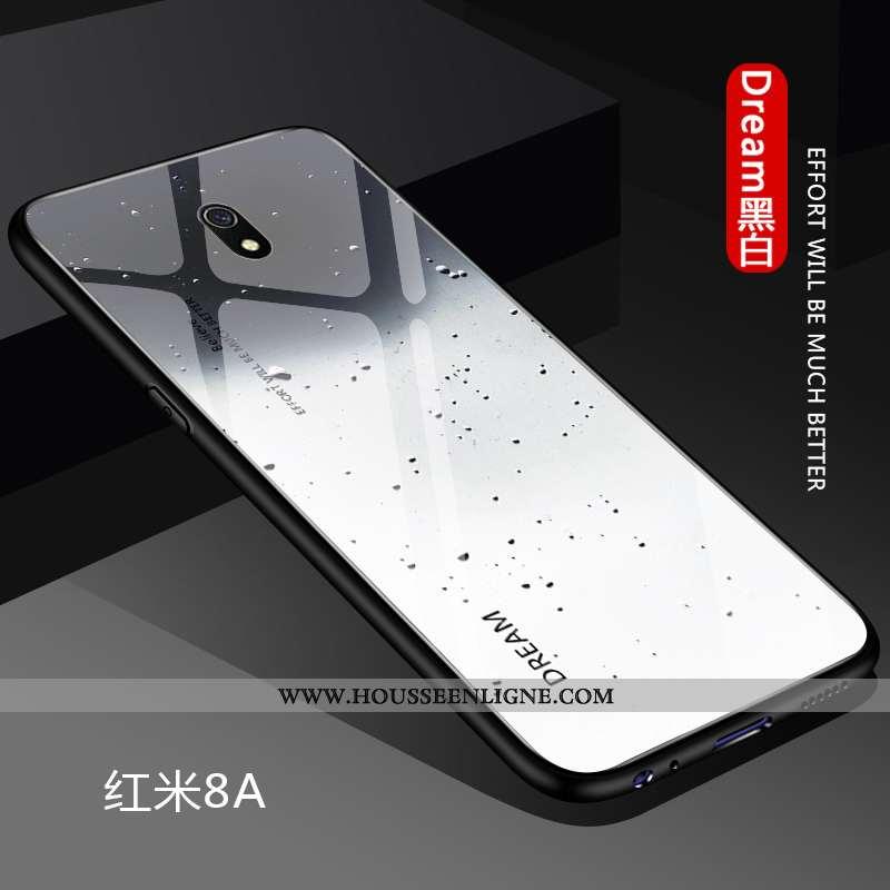 Étui Xiaomi Redmi 8a Protection Personnalité Amoureux Blanc Rouge Silicone Coque Blanche