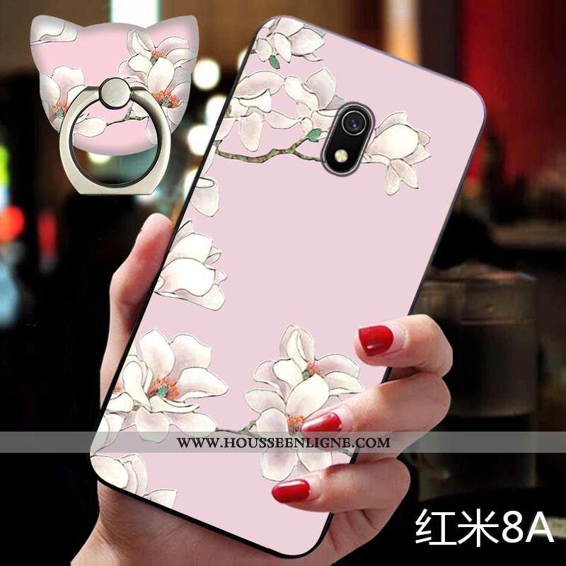 Étui Xiaomi Redmi 8a Vintage Ultra Coque Téléphone Portable Rose Silicone Personnalité