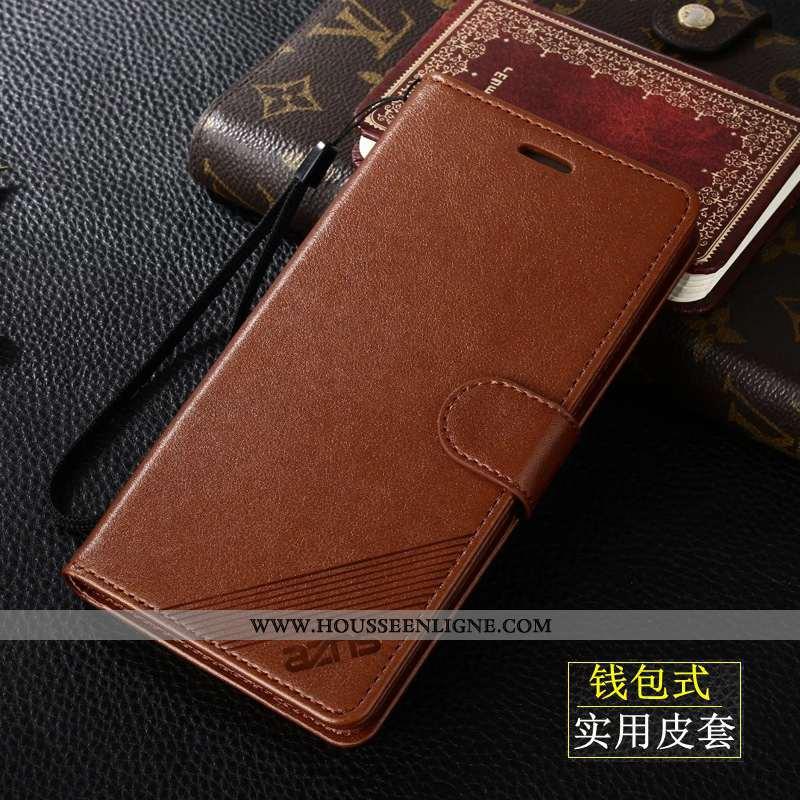 Étui Xiaomi Redmi 9 Cuir Protection Clamshell Incassable Tout Compris Coque Téléphone Portable Marro