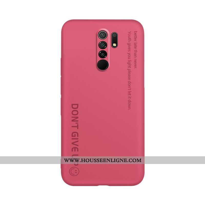Étui Xiaomi Redmi 9 Tendance Légère Protection Tout Compris Délavé En Daim Ornements Suspendus Lettr