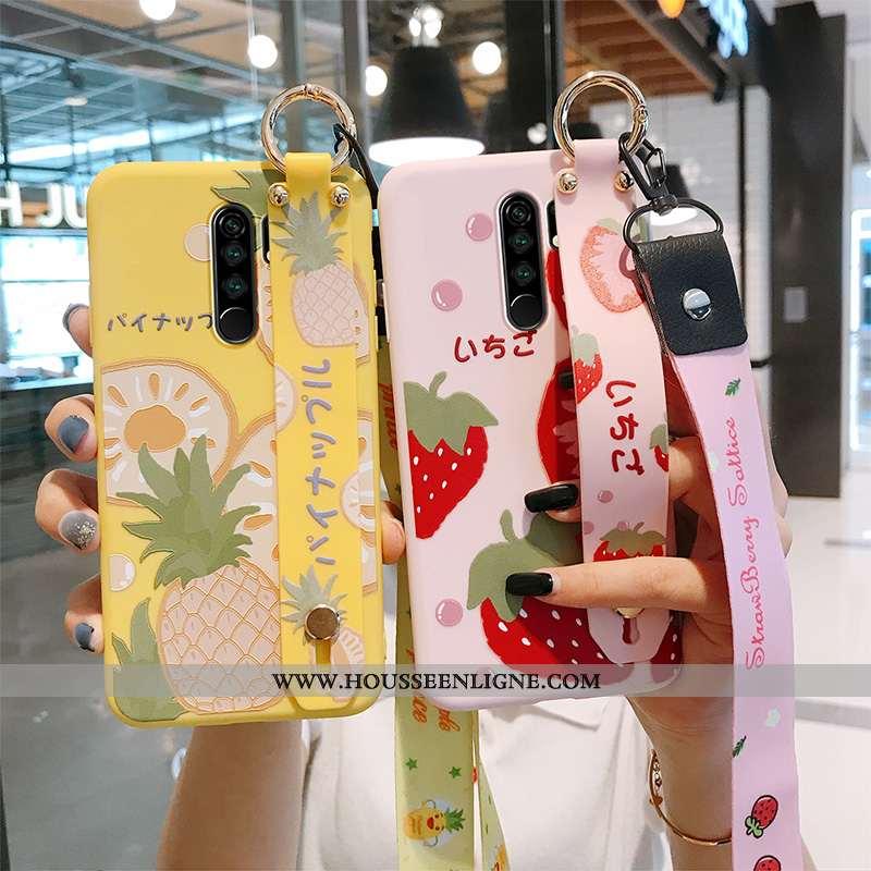 Étui Xiaomi Redmi 9 Tendance Silicone Protection Net Rouge Fruit Petit Jaune