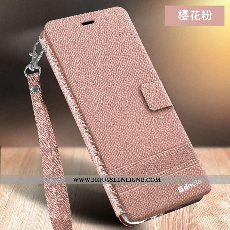 Étui Xiaomi Redmi 9a Cuir Fluide Doux Protection Incassable Business Téléphone Portable Rose