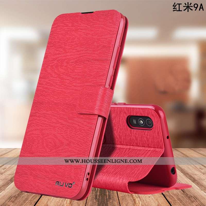 Étui Xiaomi Redmi 9a Silicone Protection Tout Compris Rouge Housse Fluide Doux Téléphone Portable