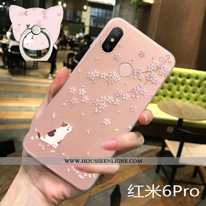 Étui Xiaomi Redmi Note 6 Pro Fluide Doux Silicone Tout Compris Incassable Mode Rose