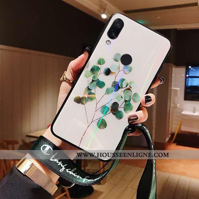 Étui Xiaomi Redmi Note 7 Charmant Protection Blanc Frais Net Rouge Créatif Miroir Blanche