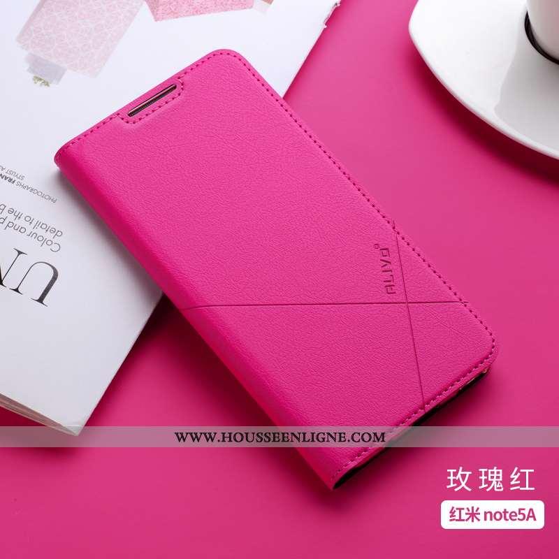 Étui Xiaomi Redmi Note 7 Cuir Fluide Doux Incassable Clamshell Tout Compris Silicone Rose