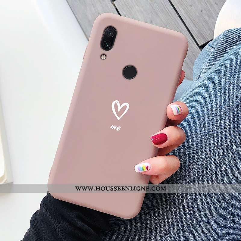 Étui Xiaomi Redmi Note 7 Dessin Animé Ultra Incassable Tendance Net Rouge Légère Silicone Rose