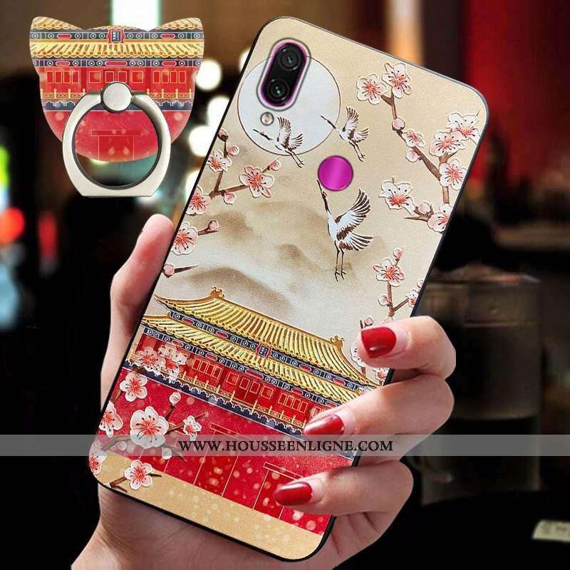 Étui Xiaomi Redmi Note 7 Personnalité Vintage Silicone Tendance Protection Style Chinois Fluide Doux