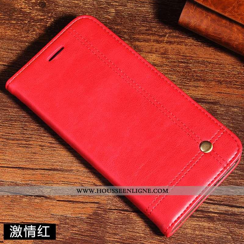 Étui Xiaomi Redmi Note 7 Protection Cuir Véritable Tout Compris Vent Rouge Téléphone Portable Coque