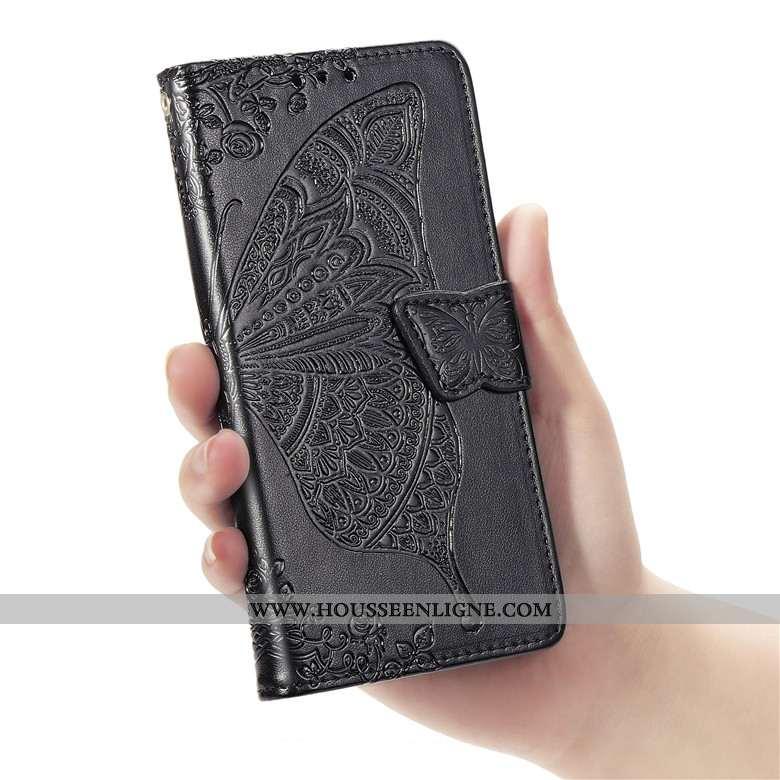 Étui Xiaomi Redmi Note 7 Silicone Protection Rouge Coque Cuir Noir Téléphone Portable
