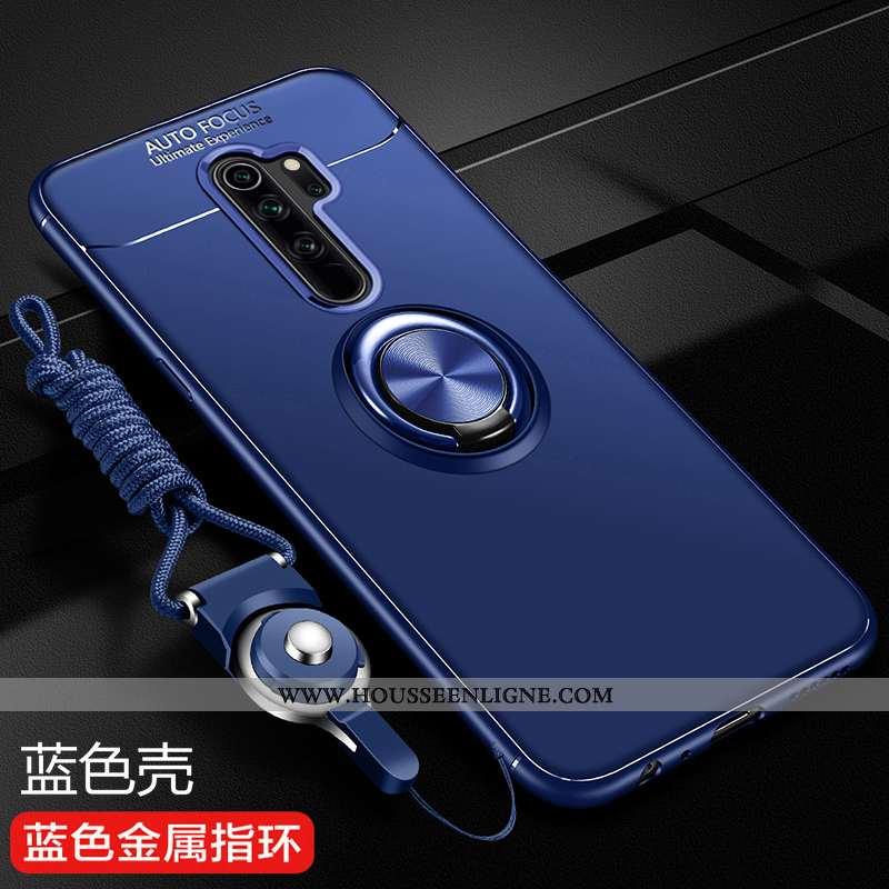 Étui Xiaomi Redmi Note 8 Pro Fluide Doux Silicone Protection Rouge Téléphone Portable Coque Bleu
