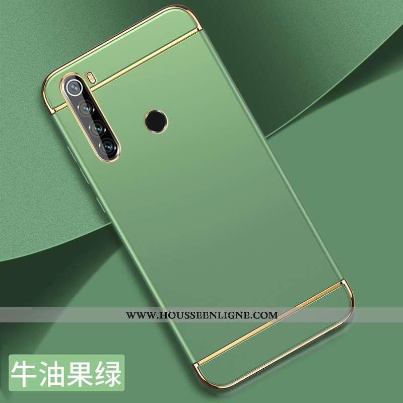 Étui Xiaomi Redmi Note 8t Délavé En Daim Personnalité Vert Protection Légère Difficile Épissure Vert