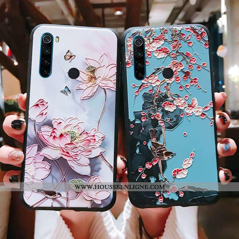 Étui Xiaomi Redmi Note 8t Légère Fluide Doux Vintage Téléphone Portable Protection Luxe Rose