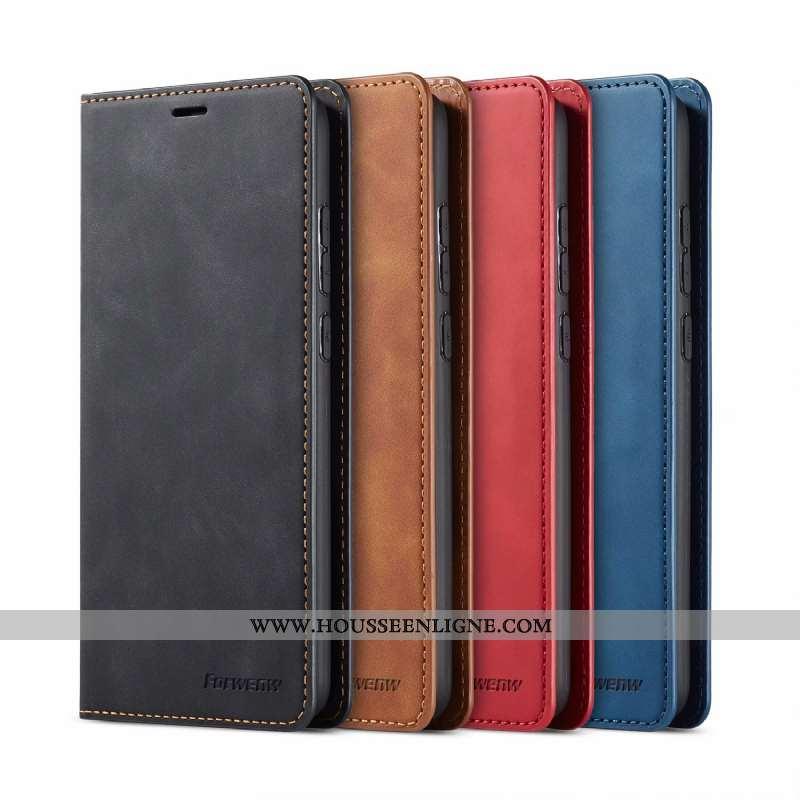 Étui Xiaomi Redmi Note 8t Portefeuille Cuir Carte Noir Housse Tout Compris Téléphone Portable