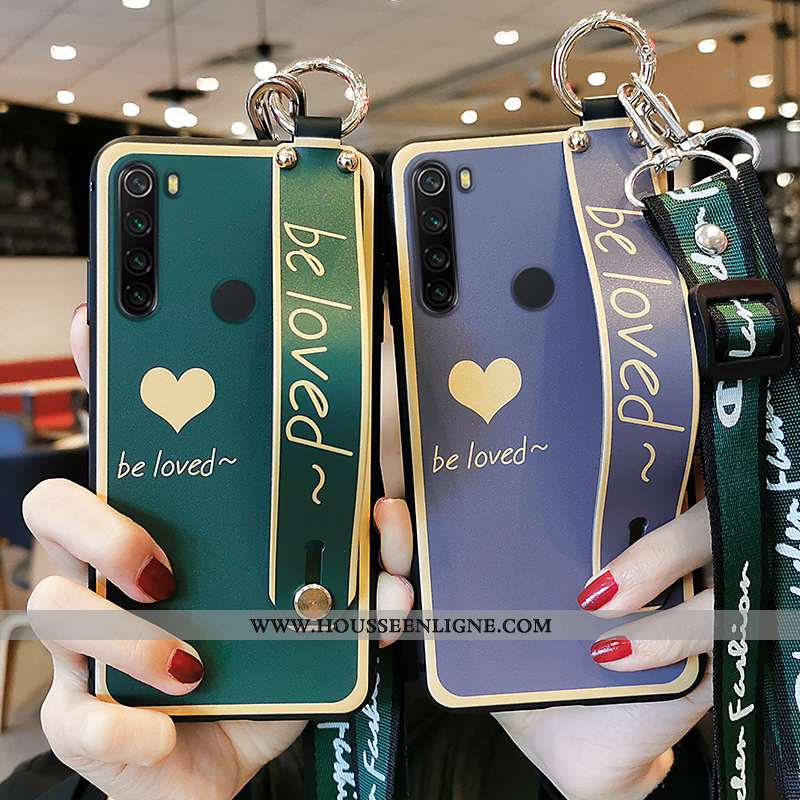 Étui Xiaomi Redmi Note 8t Protection Ornements Suspendus Coque Incassable Amour Silicone Verte