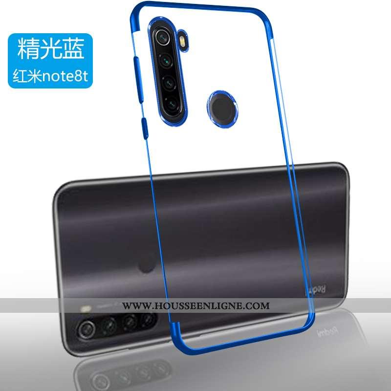 Étui Xiaomi Redmi Note 8t Protection Transparent Ultra Téléphone Portable Simple Petit Bleu