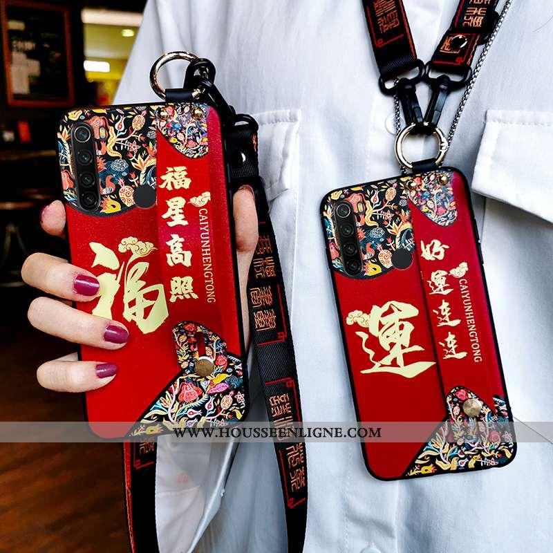 Étui Xiaomi Redmi Note 8t Silicone Protection Fluide Doux Ornements Suspendus Tendance Style Chinois