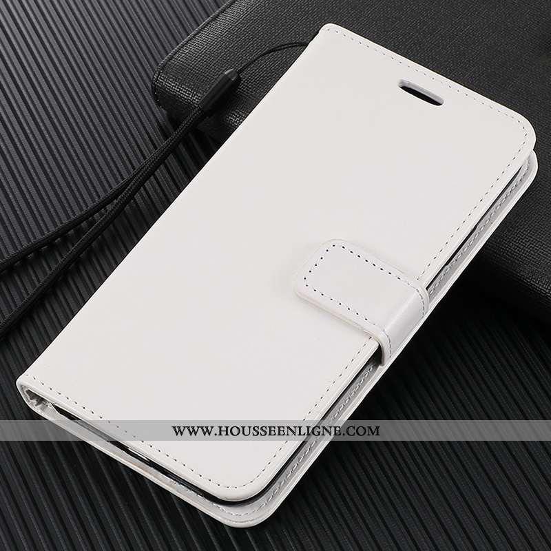 Étui Xiaomi Redmi Note 9 Cuir Fluide Doux Incassable Silicone Housse Tempérer Téléphone Portable Bla