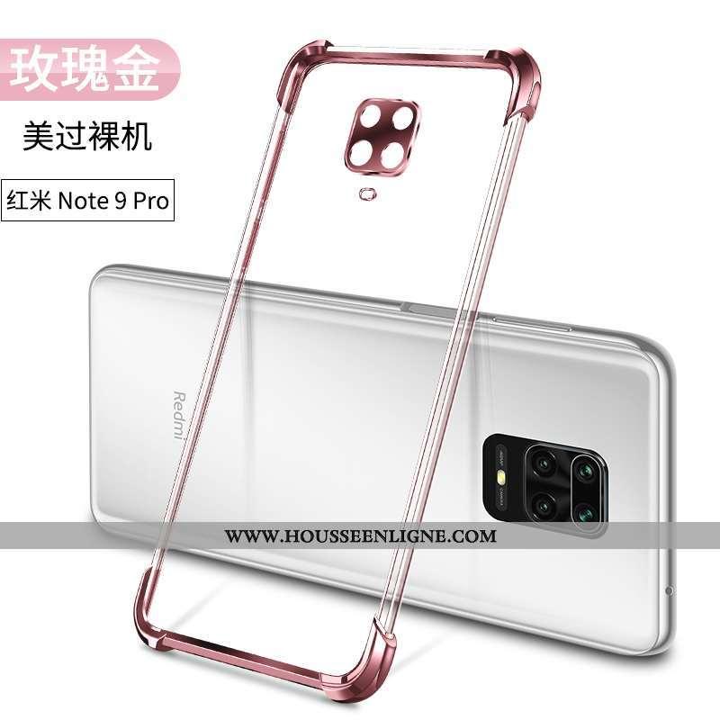 Étui Xiaomi Redmi Note 9 Pro Ballon Incassable Or Coque Tout Compris Téléphone Portable Petit Doré