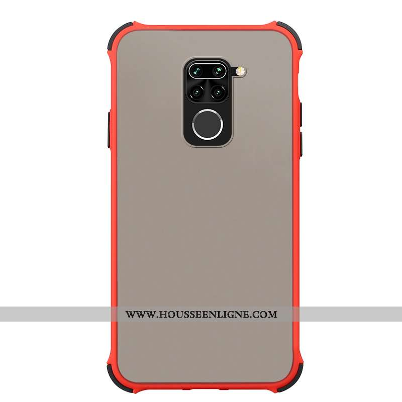 Étui Xiaomi Redmi Note 9 Protection Fluide Doux Simple Petit Tempérer Rouge Incassable