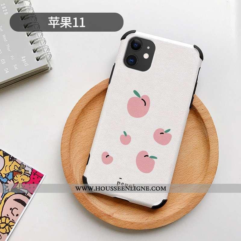 Étui iPhone 11 Modèle Fleurie Silicone Incassable Personnalité Protection Charmant Téléphone Portabl