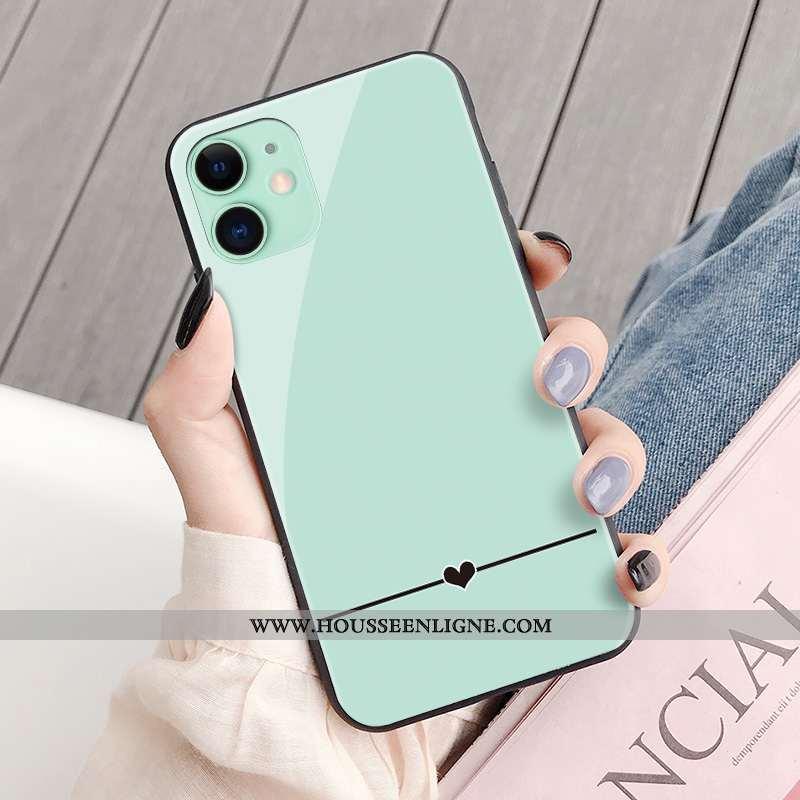 Étui iPhone 11 Personnalité Protection Net Rouge Vent Coque Simple Verte