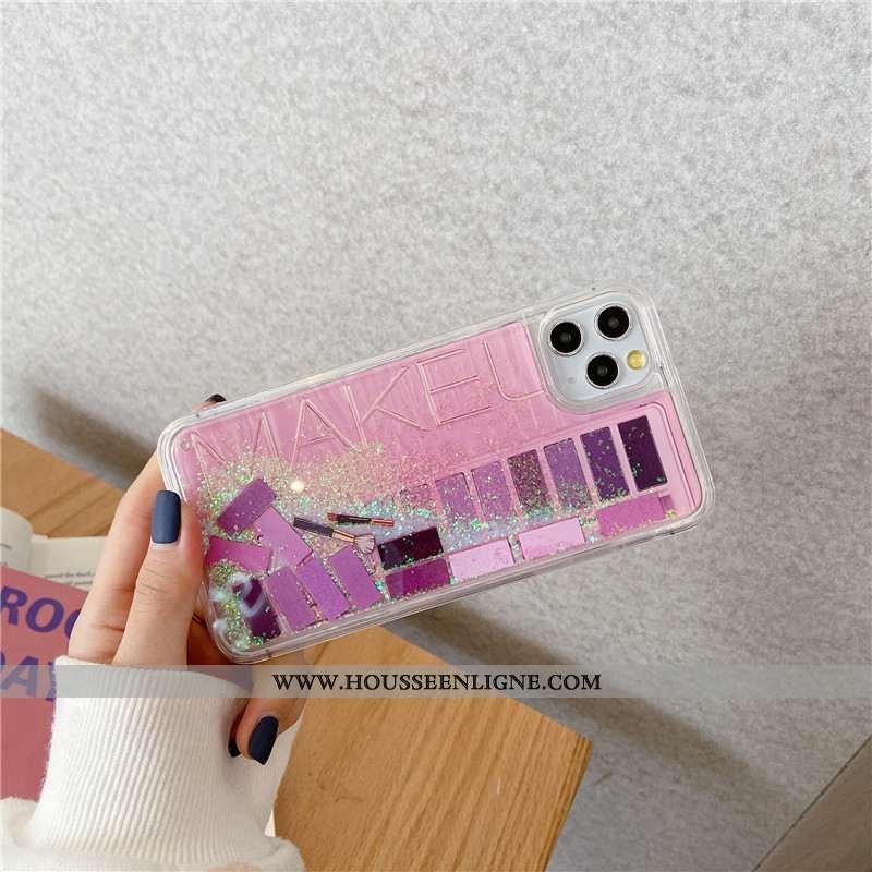 Étui iPhone 11 Pro Charmant Créatif Coque Téléphone Portable Quicksand Rose Bordure