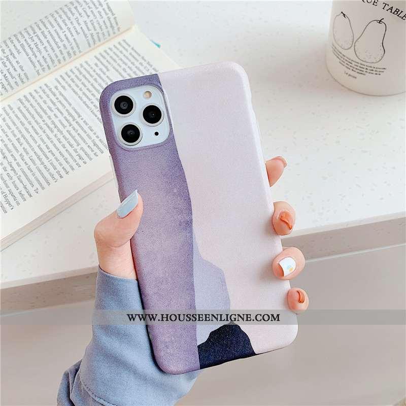 Étui iPhone 11 Pro Fluide Doux Silicone Simple Couture Couleurs Violet Abstrait Téléphone Portable