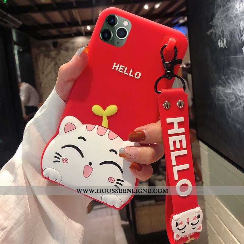 Étui iPhone 11 Pro Fluide Doux Silicone Téléphone Portable Coque Protection Incassable Rouge